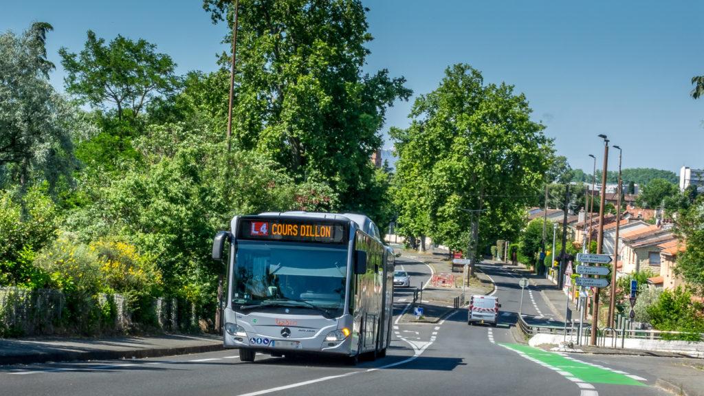 Lafourguette -Bus L4 - Route de Seysses