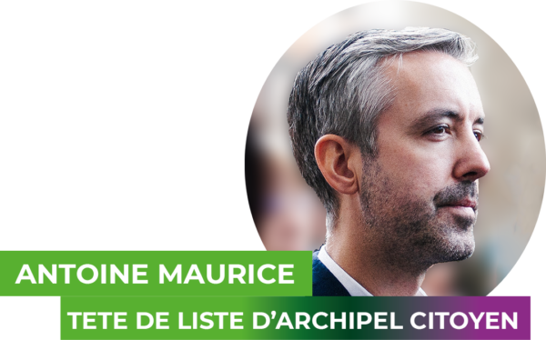 Antoine Maurice, teste de liste Archipel citoyen