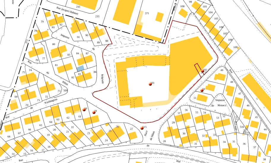 Plan cadastral 840-AD-101